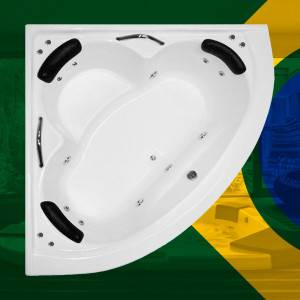 Banheira de Canto Saquarema COMPLETA com hidro