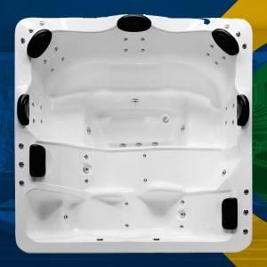 Spa Quadrado Amparo COMPLETO com hidro em acrílico