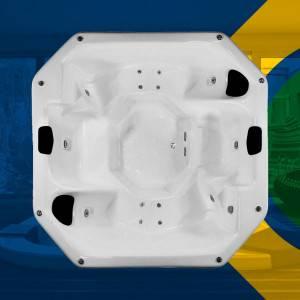 Spa Quadrado Marilia COMPLETO com hidro em acrílico